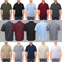 Guayabera Shirts Men's Short Sleeve Cuban Shirt Guayaberas Camisas para Hombre