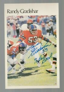 Randy Gradishar Autographed Signed Topps Mini Poster Card W/INSC 100% Guaranteed
