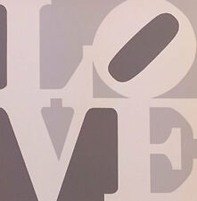 "Robert Indiana       ""Love (Gray White)""    1996   Screenprint"