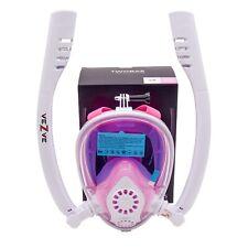 Snorkel Full Face Mask 180 Degrees Anti-Fog Anti-Leak Mask for Swimming Diving