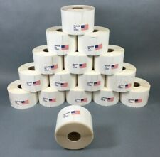 16 Rolls x 2000 Price Sticker Tags, Jewelry Round Dumbell Barbell labels White