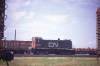 CN CANADIAN NATIONAL Railroad Locomotive 8521 Original 1972 Photo Slide