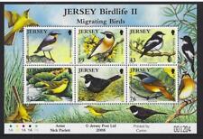 JERSEY 2008 BIRDLIFE II - MIGRATING BIRDS MINIATURE SHEET UNMOUNTED MINT, MNH