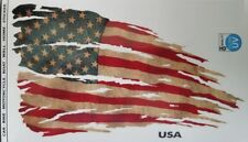 """American USA Flag Tattered and Distressed Decal Sticker 8"""" x 4.5"""""""