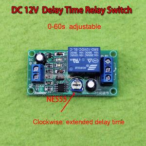 Delay Time Switch 1 Minute Adjustable 0-60 Second DC12v NE555 Zeitrelais Module