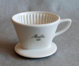 Melitta 101 - Kaffeefilter, Kaffeefilterhalter Porzellan, cremeweiß, 2-Loch
