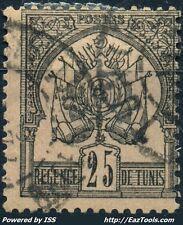 TUNISIE REGENCE N° 5 AVEC OBLITERATION COTE 75€