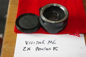 Vivitar MC x2 Manual Focus Teleconverter Pentax K (KM) Fitting - VGC