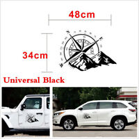 DIY 48cmx34cm Black Compass Graphics Vinyl Sticker Decal For Car Hood Body Side