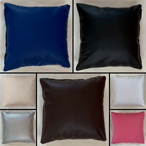 Handmade PVC Faux Leather Cushion With Removeable Insert Sofa Bed Decor Zipper