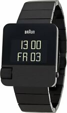 BRAUN BN0106BKBTG Prestige Men's Black Stainless Steel Bracelet Digital Watch