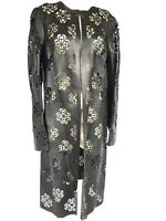 Alexander McQueen Floral Laser-Cut Leather Coat NEW With TAG