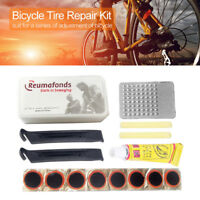 Bicycle Tyre Rubber Tube Fix Kit Set Bike Flat Tire Repair Patch Glue Lever Tool