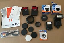 Lot of Digital Camera Lenses Flash & Accessories Zeikos Japan Optics Bower Sony