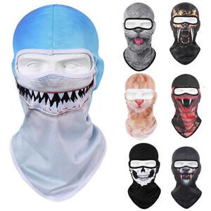 Halloween 3D Print Motorcycle Biker Balaclava Face Mask Full Cover UV Protection