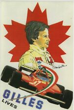 Gilles Villeneuve limited edition Italian postcard from 1993