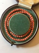 Vintage Stunning Coral Necklace Choker Metal Clasp