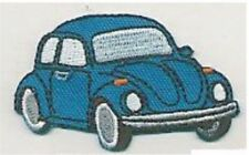 "2.5"" Blue Beetle Vehicle Car Facing Right Embroidered Patch"