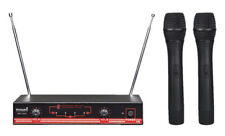 STARAUDIO Pro Stage DJ KTV Wireless 2Channel Dual Handheld VHF Microphone System