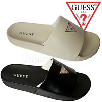 Guess Slides Sandals Womens Mens Beach Summer Black Flip Flpos Slip On Sliders
