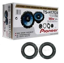 "Pioneer TS-H1703 6.5"" 2 way component speakers with VW T6 Speaker mounts"