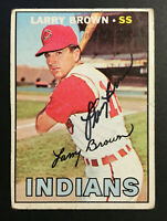 Larry Brown Indians signed 1967 Topps baseball card #145 Auto Autograph