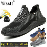 Women Work Safety Shoes Steel Toe Bulletproof Boots Indestructible Sneakers Size