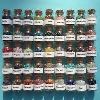 45 Pcs Gemstone Wishing Bottles Natural Quartz Crystal Chip Tumbled Stones Set