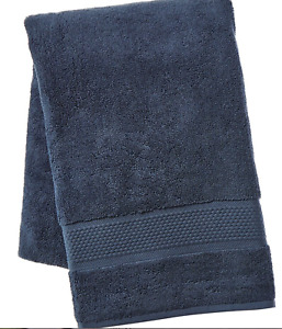 New FRETTE Elisa Border BATH Towel Blue 650 Gram Cotton ~ True Luxury