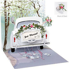 3D Pop Up Greeting Card from Up With Paper - WEDDING CAR - UP-WP-1239