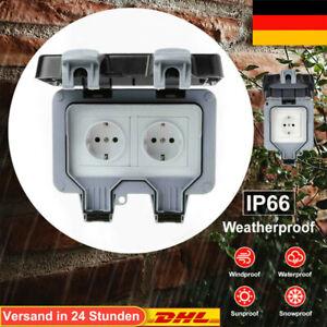 Wandsteckdose Box Für Außenbereich Steckdose IP66 Wasserdicht Staubdicht 250V DH