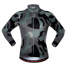 OUTAD Mens Long Sleeve Breathable Half Zip Cycling Jersey SIZE L 3d67f5d5c
