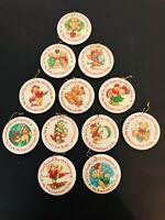 Vintage Gorham Twelve Days of Christmas Ornaments 12 Days Bear Ornaments 1987