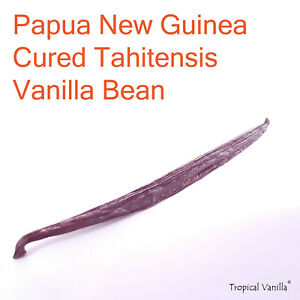 Papua New Guinea Cured Tahitensis Vanilla Beans Grade A + Free Shipping
