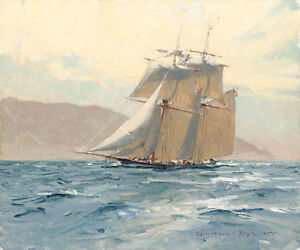 """Christopher BLOSSOM """" The Revenue Cutter C. W. Lawrence Limited Edition Canvas"""
