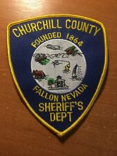 PATCH POLICE SHERIFF  CHURCHILL COUNTY FALLON  - NEVADA state