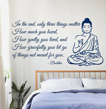 Wall Decals Buddha Quote Yoga Gym Love Vinyl Sticker Murals Wall Decor KG14