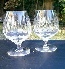 Stuart Crystal LICHFIELD cut Pair of Brandy Glasses unsigned, 2nd