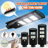 200/300/450W LED Solar Street Light PIR Motion Sensor Flood Wall Lamp + Remote
