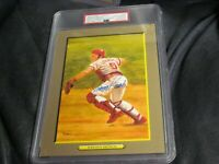 Johnny Bench AUTOGRAPHED Great moments No. 49 Perez Steel Photo PSA 9 Cert