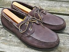 Timberland 70533 Men's Brown Leather 2-Eye Casual Moc Toe Boat Shoes Size 12 M