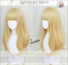 Anime Carole & Tuesday Cosplay Long Hair Full Wig Flax gold hairpiece
