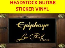 EPIPHONE LES PAUL REBORN GOLD HEADSTOCK STICKER VISIT MY STORE DECORATION GUITAR