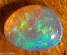 AUSTRALIAN  CRYSTAL OPAL SOLID CABOCHON COOBER PEDY 6x5x2mm total .4cts.