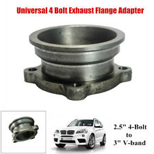 """2.5""""to 3"""" S.S. Car V-Band Turbo Downpipe 4 Bolt Exhaust Flange Adapter Universal"""