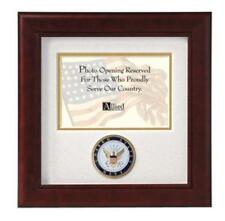 "Allied Flag Frame U.S. Navy Military Horizontal Picture Mahogany Frame 10"" x 10"""