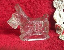 Vintage Clear Glass Scotty Dog Figurine Standing Figurine