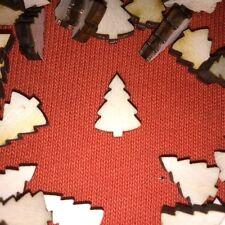 30 x mini CHRISTMAS TREE SHAPES (n3) plain embellishments cardmaking craft