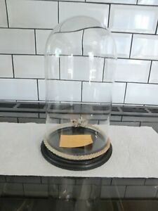 Vintage GLASS DOME 260mm high by 136mm diameter