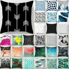 """18"""" geométrica Floral Cintura Almohadón Funda Cushion Covers Cama Decoración Al Aire Libre"""